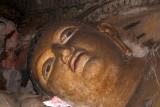 Face of Sleeping Buddha Dambulla