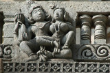 Carved Stone Cavorting Couple Belur