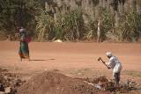 Man Chopping Woman Crossing Road Bidar