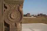 Carved Detail on Bahid Shahi Tombs Bidar