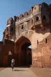 Cycling in to Bidar Fort