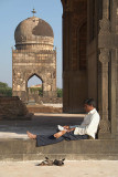 Relaxing at the Bahid Shahi Tombs Bidar
