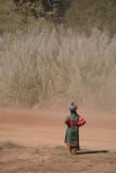 Woman Crossing Road Bidar