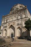 Boy on Bike at Bahmani Tombs at Ashtur