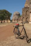 Bike at Bahmani Tombs at Ashtur