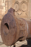 Decorated Cannon Outside Archaeological Museum Bijapur 02