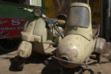 Old Moped and Sidecar Bijapur