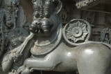 Smooth Stone Carving of Lion Belur