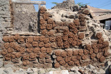 Cow Dung Fuel Drying on Wall Bijapur