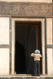 Man About to Enter Choukhandi Tomb at Ashtur