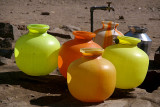 Plastic Containers at the Water Tap Bijapur