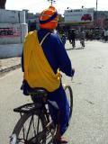 Nihang Singh on a Bike