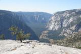 View down Yosemite Valley