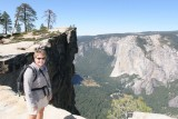 Carol with Taft Point in the background
