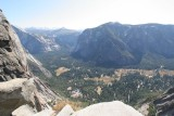 Looking over towards Glacier Point and up towards Little Yosemite Valley.