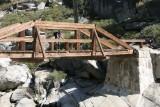 The bridge over the seasonally dry creek.