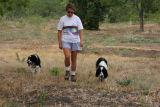 Carol and the boys walking at Thorn Ridge