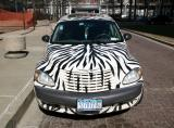 The GirlProps.com Zebra Car