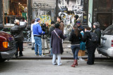 Shooting a Film in the Recesses of a Manhattan Street