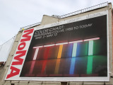 MoMA Billboard at Passante's Playground - Benjamin Moore Paint Color Show