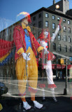 Clowns - NY Costume Shop Window with Reflections