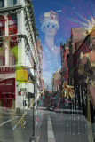 NY Costume Shop Window with Reflections