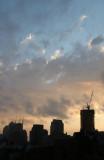 Breaking Storm at Sunset - Downtown Manhattan