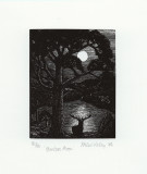 Hunters Moon - by wood engraver Kathleen Lindsley