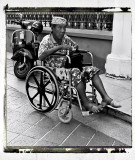 disabled man at the front of the mosque/arab quarter