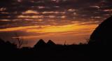 Village at dusk