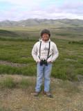 Khanh at the Arctic Circle (Yukon)