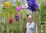 Paul Passine's greenhouse full of vandas