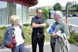 Bürgermeister Krammer mit Robert Lechner und Bgm. Hannelore Handler - Woltran