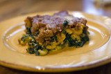 Pastichio with Spinach