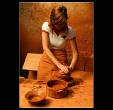 Pottery - Hands Working ...