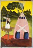 Pink Hut by Mario Lual Deng