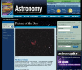 Medusa Nebula Picture of the day in Astronomy Magazine May 2009