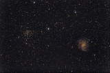 Fireworks Galaxy NGC 6946 and Open Cluster NGC 6939