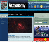 M17 Picture of the Day in Astronomy Magazine's Web Site - July 10, 2009