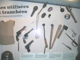 Various trench fighting weapons