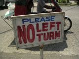 we now have to beg motorists to follow traffic regulations?