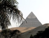 The Pyramids of Giza as seen from our hotel