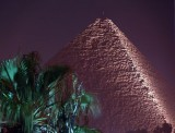 Cheops Pyramid at night