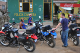 Stopping at the police check in Angostura