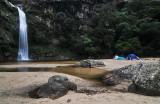 Camping below La Pajcha water fall, between Samaipata and Postrervalle