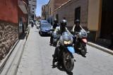 Riding through the streets of Potosi