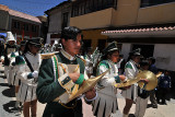 Marching band on the streets of Potosi
