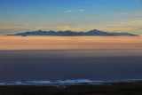 Sunset over the Salar de Uyuni from the base of Volcan Tunupa