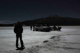 Setting up camp on the Salar de Uyuni