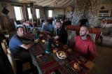 Breakfast at a tourist hotel in Tahua on the edge of the Salar de Uyuni